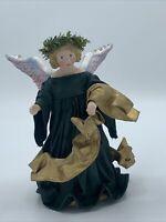 VTG 1994 Clothtique Original Possible Dreams Angel Tree Topper Green