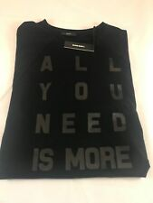 """BNWT DIESEL Ladie's T-Bren in Black """"All You Need Is More"""" Size M SAVE £££s"""