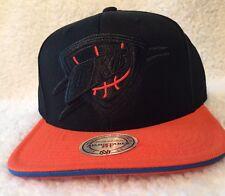 OKC Thunder Mitchell & Ness NBA Authentic Sports Apparel Black Snapback Hat Cap