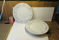 "Set of 4 Mikasa Fine China Dresden Rose L9009 10 5/8"" Dinner Plates  EUC 1978-87"