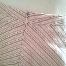 Milly New York Orig. sz 8 pink white blue tan stripes USA Made juniors career M