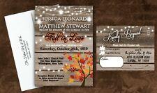Wedding Invitations With Envelopes Tree Invites Set of 100 Fall Invites CUSTOM