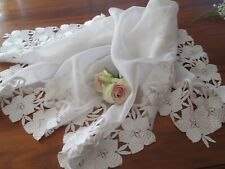 Elegant Ooak Voile & Brittany Lace Table Cloth - Trier, Germany