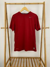 Nike Men's Pro Combat Dri-Fit Fitted Athletic Red T-Shirt Size L