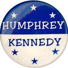 Scarce 1968 Hubert HUMPHREY Robert KENNEDY Dream Ticket Button (1366)