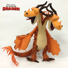 "14"" How to Train Your Dragon Plush Hideous Zippleback Two-headed Dragon Soft Toy"