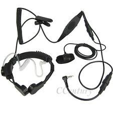 VOX Military Throat Mic Headset Earpiece For Yaesu Radio VX3R VX5R Vertex VX160