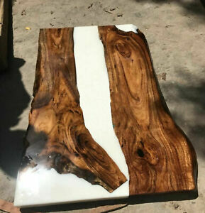 """48"""" x 30"""" Epoxy Resin Dinning Table Live Edge Epoxy Table Home Furniture"""