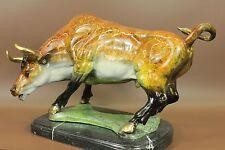 """Huge Sale Bronze coffee Wall Street Bull OX Figure Statue 18""""Long Statue Sale"""