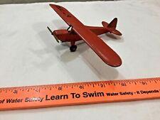 Vintage Metal Hubley red J3 Cub airplane! FREE shipping