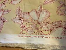 "NEW Thibaut Decorator Fabric w/ Teflon ""Harvest Toile"" 2002 Print - 5.5 Yds"