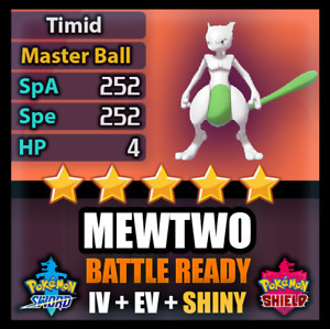 Pokemon Sword and Shield 6IV Shiny Legendary Mewtwo BATTLE READY FAST Delivery!