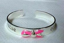 Promise of a Cure Cuff Bracelet Silver Plate Pink Ribbon Awareness Bangle New