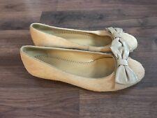 Franco Sarto Shoes Womens Size 8 M Flats Bow Fur Fall              (wb5)