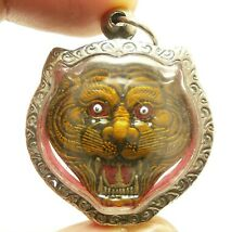 TIGER LP PERN PENDANT MUAY THAI REAL STRONG MAGIC POWERFUL LIFE PROTECTION CHARM