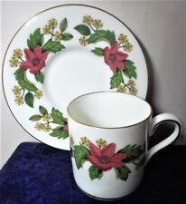 WEDGWOOD DEMITASSE CUP & SAUCER  IN THE STARFLOWER PATTERN, W4159, PERFECT