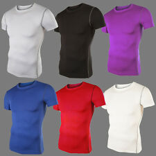 Men Compression T-Shirt Base Layer Under Tight Sport Casual Top Running Fitniess