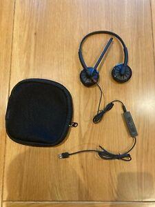 Plantronics Blackwire 300 DA headset and case