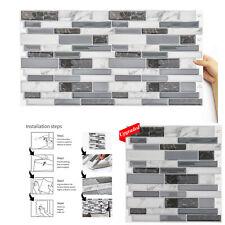 5/10pcs Peel and Stick Backsplash for Kitchen/Bath Mosaic Smart Art Tile Diy