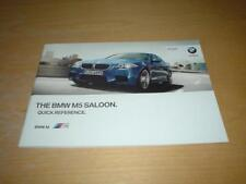 BMW F10 5 SERIES M5 Quick Reference Booklet Owners Handbook Instruction Manual