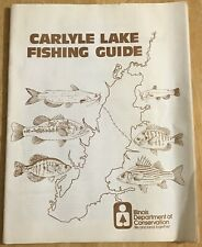 Vintage 1975 CARLYLE LAKE Fishing Guide & Maps Illinois Dept. Conservation