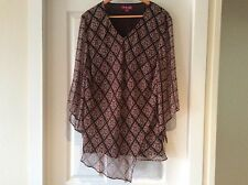 Stunning Designer Lavender Road 3/4 Sleeve Top Size 22 ~ New Without Tags ~
