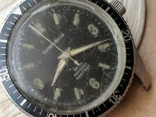 Vintage 1969 Bulova Caravelle 666 Feet Divers Watch w/Deep Patina,All SS Case