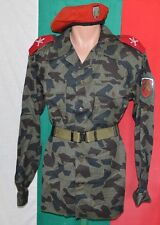 Bulgarian Army SPLINTER Pattern CAMOUFLAGE Uniform SHIRT + Belt + Beret