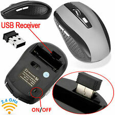 New 2.4GHz USB Wireless Cordless Optical Scroll Mouse For Compute Silver