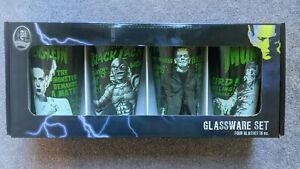 NEW Universal Studios Monsters Glassware Set 16oz Glasses Horror Frankenstein