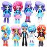 Pony Equestria Boys Girls Figures 9PCS Set Monster Dolls Kids Toys