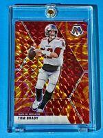 Tom Brady RARE GOLD REACTIVE MOSAIC PRIZM SOARING TAMPA BAY CARD - Mint!