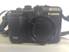 Canon PowerShot G10 14.7MP Digital Camera two cases UNTESTED FOR PARTS