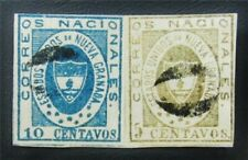 nystamps Colombia Stamp # 14a,16 Used $355 Signed Rare Paid $300 J15y458
