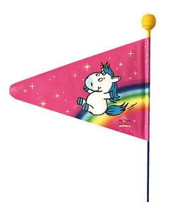 Kinder Fahrrad Wimpelstange Einhorn pink doppelwandig teilbar Fahne