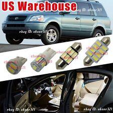 14-pc Pure White Luxury LED Light Interior Package Map Kit For 03-05 Honda Pilot