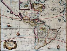 North & South America, map by M. Merian, 1638, America noviter delineata
