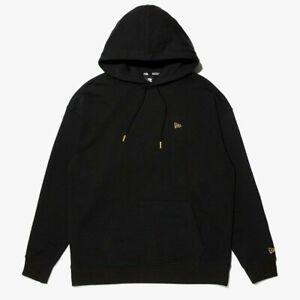 New Era Branded Essential Black Hoodie Jumper - Medium