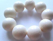 RARO 100% naturale CORALLO BIANCO SPUGNA ELASTICIZZATA Bracciale. Perle enorme!
