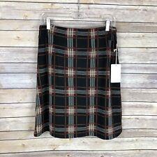 NEW Stitch Fix 41Hawthorn Jordanne Soft A-Line Plaid Skirt Size Medium