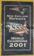 "NEW ENGLAND PATRIOTS 14"" BANNER 2001 WORLD CHAMPIONS SUPER BOWL XXXVI"