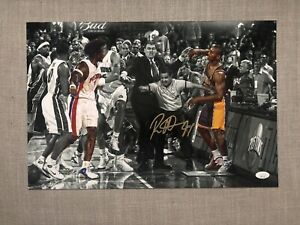 Ron Artest signed autographed 12x18 Malice at the palace of auburn hills JSA