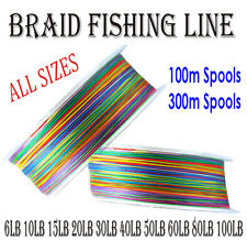 Braid Fishing Line 300m 100m Spectra Dyneema 6lb 10lb 15lb 20lb 30lb 50lb 80lb