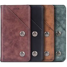 FLIP RETRO REAL GENUINE LEATHER WALLET TPU SILICONE CASE COVER SHELL FOR NOKIA