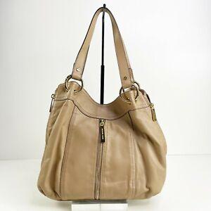 Michael Michael Kors Moxley Shoulder bag Zipper expansion Butter soft leather