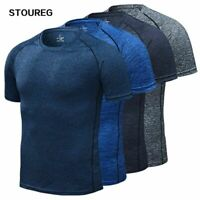 Men's Running T-Shirt, Quick Dry Compression Sport T-Shirts, Fitness Gym Running