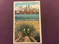 Vintage Postcard - Brooklyn Subway, New York City