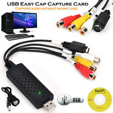 Easycap USB 2.0 Audio Adapter,Video Grabber Capture & TV Tuner Card For PS2/PS3