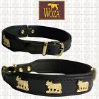 WOZA Hundehalsband Vollleder Kuh Lederhalsband Rindnappa Collar ОШЕЙНИК K129551