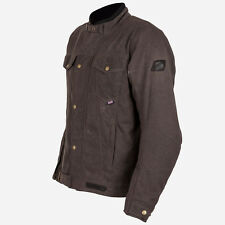 Spada Union Brown Wax Cotton Motorcycle Jacket. Removable CE Armour & Lining XL